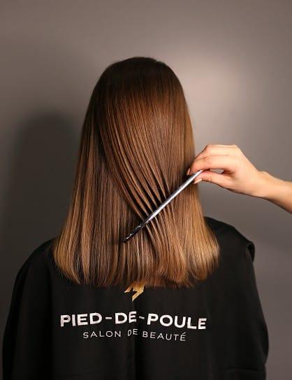 пробор и состояние волос
